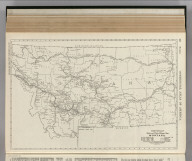 Commercial Atlas of America. Rand McNally Black and White Mileage Map, Montana.