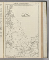 Commercial Atlas of America. Rand McNally Black and White Mileage Map, Idaho.