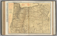 Commercial Atlas of America. Rand McNally Standard Map of Oregon.