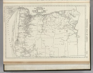 Commercial Atlas of America. Rand McNally Black and White Mileage Map, Oregon.