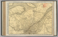 Commercial Atlas of America. Rand McNally Standard Map of Quebec.