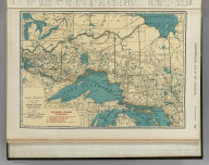 Commercial Atlas of America. Rand McNally 14x21 Inch Map of Northern Ontario.