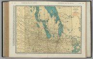Commercial Atlas of America. Rand McNally Standard Map of Manitoba.