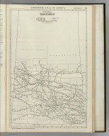 Commercial Atlas of America. Rand McNally Black and White Mileage Map, Saskatchewan.