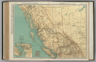 Commercial Atlas of America. Rand McNally Standard Map of British Columbia. (with) Vicinity of Victoria and Vancouver.
