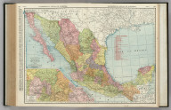 Commercial Atlas of America. Rand McNally Standard Map of Mexico. (with) State of Mexico with Surrounding Country.