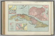 Commercial Atlas of America. Rand McNally Standard Map of Cuba. (with) Port Matanzas. (with) Cardenas and Santa Clara Bays. (with) Port of Cienfuegos. (with) Port of Santiago de Cuba. (with) Habana.
