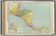 Commercial Atlas of America. Rand McNally Standard Map of Central America. (with) Map of the Canal Zone.