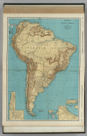 Commercial Atlas of America. Rand McNally Standard Map of South America.