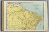Commercial Atlas of America. Rand McNally Standard Map of Brazil, Paraguay, and Uruguay (northern half).