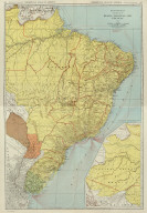 (Composite of) Commercial Atlas of America. Rand McNally Standard Map of Brazil, Paraguay, and Uruguay.