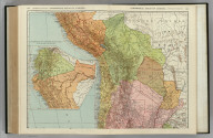 Commercial Atlas of America. Rand McNally Standard Map of Chile, Bolivia, Peru, Ecuador, Uruguay, Paraguay, and the Argentine Republic (northern part). (with) Ecuador and the Northern Part of Peru.
