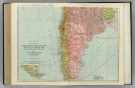Commercial Atlas of America. Rand McNally Standard Map of Chile, Bolivia, Peru, Ecuador, Uruguay, Paraguay, and the Argentine Republic (southern part). (with) Detail Map of Southern Part of the Argentine Republic and Chile.