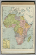 Commercial Atlas of America. Rand McNally Standard Map of Africa. (with) Suez Canal. (with) Cape Verde islands (Portugese).