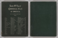 (Covers to) Rand McNally Commercial Atlas Of America. Fifty-Fifth Edition ... Engraved, Printed, And Published By Rand McNally & Company, Chicago, U.S.A., 1924. (on verso) ... Copyright, 1924, by Rand, McNally & Co. Made In U.S.A.