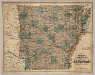 New Sectional Map Of The State Of Arkansas