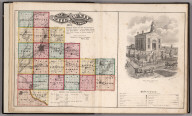 Will County, Illinois, 1873. View: Will County Court House. (Legend).