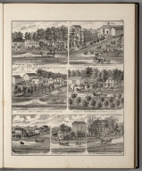 View: Residences of Harry Lord, Samuel E. Ranck, S.L. Smith, W.M. Schuler, William Virgil,E.A. Bartoo, Mary Brown.
