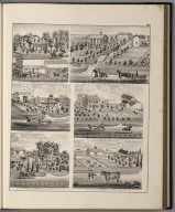 View: Residences of L.G. Colegrove, Nathanial Barnes, Wm. Thompson, Silas Park, Chauncey Weightman, B.F. Carter.