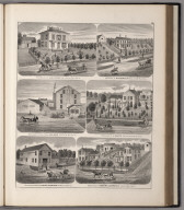 View: Residences of J.O.A. King, R. Robertson, J. Shutts, Edward Lawrence. Businesses of J.O.A. King, Henry Schriber.