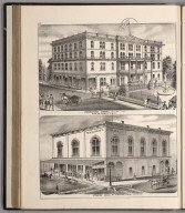 View: Robertson House, W.B. Caswell, Prop. Werner Hall, Wm. Werner, Prop.