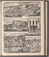View: Residences of Conrad Tatge, M.C. Bissell, Samuel Perry, Albert Ewen, T.C. Haywood, O.A. Haywood, A.R. Starr.