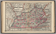 Schonberg's Map of Kentucky and Tennessee.