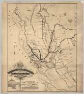 Map Showing California Pacific Rail Road Extension