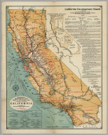 California Highway And Railroad Map