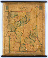 Map of Vermont & New Hampshire. Published By Lewis Robinson 1849. Entered ... 23rd day of September 1828.