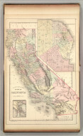 County map of the state of California. (with) San Francisco. (with) San Francisco Bay and vicinity. Copyright 1886 by Wm. M. Bradley & Bro.