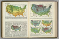 Average Winter Temperature, December - February, Inclusive. Lowest Temperature Ever Observed. Average Annual Minimum Temperature. (Four additional maps showing frequency/duration of cold temperatures.) Atlas of American Agriculture. FJM.