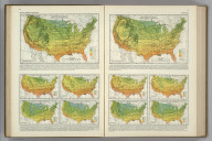 (Monthly Temperature Maps:) January. February. Atlas of American Agriculture. FJM.