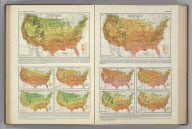(Monthly Temperature Maps:) March. April. Atlas of American Agriculture. FJM.