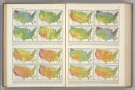 Average Number of Hours of Sunshine ... Average per cent Actual Sunshine.... Atlas of American Agriculture. A. Hoen & Co Baltimore.