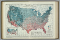 Average Dates of Last Killing Frost in Spring. (inset) Last Killing Frost in Spring, 1914. Atlas of American Agriculture.
