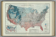 Average Dates of First Killing Frosts in Fall. (inset) First Killing Frost in Fall, 1914. Atlas of American Agriculture.