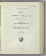 (Section Title Page) Atlas of American Agriculture. Climate ... Precipitation and Humidity. Washington. Government Printing Office.