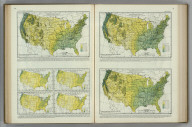 Average Monthly (February, March, April) Precipitation in Inches. Average Number of Days with Precipitation. Atlas of American Agriculture. FJM.