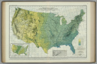 Average Summer Precipitation, in Inches. (inset) Percentage of Annual Precipitation Occurring during the Summer Months.... Litho. A.Hoen & Co. Balto.