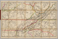(Kentucky, Tennessee) Railroad Map of the United States.