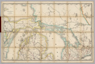 Rand, McNally & Co.'s New Shippers' Railroad Map of the United States. Scale: 8 miles to one inch. Showing all railroads, each in a separate color, and all railroad stations in large, plain type. This is the Mackinaw section, only, of the above-named map. (Below the neatline) Rand, McNally & Co.'s New Shippers' Railroad Map of the United States, Copyright, 1888 by Rand, McNally & Co. Copyright, 1891 by Rand, McNally & Co.