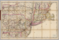 (Penn., N.Y., New England) Railroad Map of the United States.