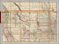 (North West section, Rand, McNally & Co.'s New Shippers' Railroad Map of the United States. Scale: 18 miles to one inch).