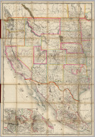 (Composite Map of) (Western section of Rand, McNally & Co.'s New Shippers' Railroad Map of the United States. Scale: 18 miles to one inch).