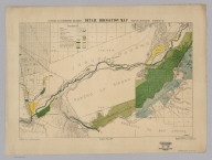 California State Engineering Department. Detail Irrigation Map. Riverside Sheet. Wm. Ham. Hall, State Engineer. Irrigation Data 1888. Scale 1 1/2 Inches to One Mile. George Sandow, Draughtsman.