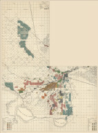 (Composite of) California State Engineering Department. Detail Irrigation Map(s) consisting of the following sheets: Delano and Poso, Buena Vista Lake, and Bakersfield. Wm. Ham. Hall, State Engineer. Irrigation Data 1885.