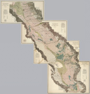 (Composite of) California State Engineering Department. Topographical And Irrigation Map Of The San Joaquin Valley. (Sheets Nos. 1-4). Wm. Ham. Hall, State Engineer, 1886. Note. This Topographical and Irrigation Map of San Joaquin Valley is published in four sheets, as follows: Sheet No. 1, from Tp. 4 N. to 1st Standard South. Sheet No. 2, from 1st to 3d Standard South. Sheet No. 3, from 3d to 5th Standard South. Sheet No. 4, from 5th to 8th Standard South. It is intended as a general illustration of the present extent of irrigation, and a means of studying its future possible development ...