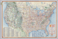 Shell Highway Map of United States.