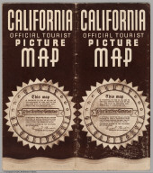 Covers: (California Highway Map) and (Birds-Eye View of California)